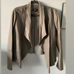 Mexx genuine leather jacket Gray color
